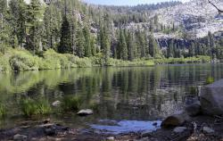 Eagle Lake, a small alpine lake above Lake Tahoe near Tahoe City, Calif.