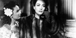 "Ann Blythe and Joan Crawford in ""Mildred Pierce."""