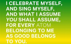 "Walt Whitman's ""Song of Myself."""