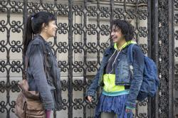 "Abbi Jacobson (left) and Ilana Glazer in a scene from ""Broad City."""
