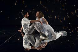 "Nael Nacer and Marianna Bassham in ""Constellations."""
