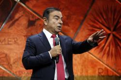 Carlos Ghosn, Chairman and CEO of Renault-Nissan Alliance, speaks at a press conference held in Paris, France, Friday, Sept. 15, 2017