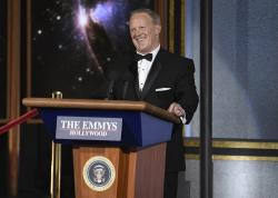 Sean Spicer speaks at the 69th Primetime Emmy Awards.