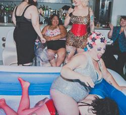 Red Hots Burlesque @ Little Boxes Theater: The saucy women's burlesque show revives The Return of the Revenge of the Night of Go Deep Lube Wrestling, the queer and woman's saucy sloppy strip show in pools of well, lube! $10-$15, $40 and $250 VIP packages. Thursday October 12. 8pm doors, 9pm show. no photos! 1661 Tennessee St. www.redhotsburlesque.com
