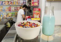 El Flako cereal cafe in Barcelona, Spain.