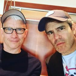 Anderson Cooper, left, with Andy Cohen