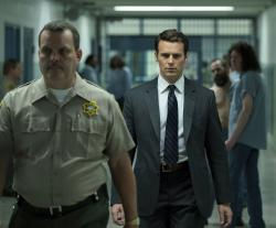 "Jonathan Groff in a scene from the 10-episode series, ""Mindhunter."""