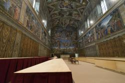The Sistine Chapel, at the Vatican.