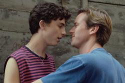 "Timothee Chalamet (left) and Armie Hammer (right) in a scene from ""Call Me By Your Name."""