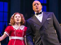 "Cassidy Pry and Christopher Sieber in Paper Mill's ""Annie"""