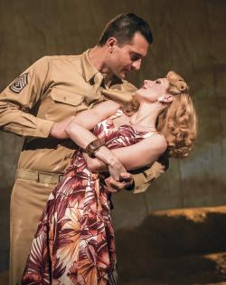 "A scene from the London production of ""From Here to Eternity."""