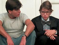 "Charlie Sheen and Corey Haim in the 1986 film ""Lucas"""