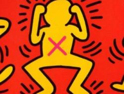 Keith Haring Act Up Poster 1989