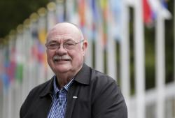 Warren Entsch poses for a picture near United Nations headquarters in New York.