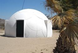 A dome structure built to withstand hurricane-force winds.