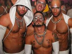 Miami White Party revelers