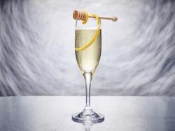Kindness, a sparkling wine cocktail.