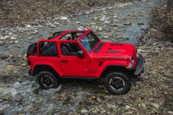 This photo provided by Fiat Chrysler Automobiles shows the 2018 Jeep Wrangler Rubicon