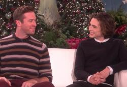 "Armie HAmmer and Timothee Chalamet on ""The Ellen Show"""