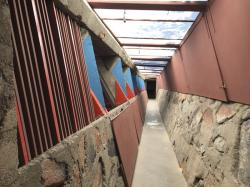 A passageway at Taliesin West in Scottsdale, Ariz.