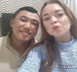 Je-Yong Ha with Lindsay Lohan