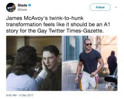 PopUps: The Internet is Thirsty for Buff James McAvoy