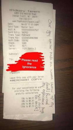 NC Restaurant Fires Server Who Complained About Customer's Anti-Gay Note Online