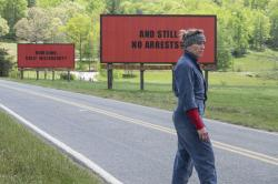 "Frances McDormand in a scene from ""Three Billboards Outside Ebbing, Missouri."""