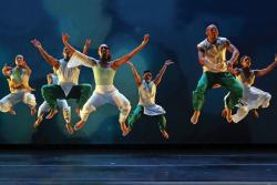 Ronald K. Brown's dance company Evidence in performance.