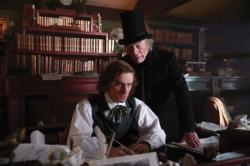 Dan Stevens and Christopher Plummer tar in 'The Man Who Invented Christmas'