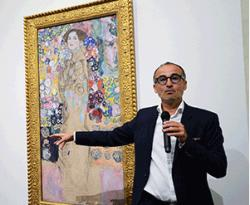 Curator Tobias Natter discusses Gustav Klimt's 'Portrait of Ria Munk III,' part of the exhibit 'Klimt & Rodin: An Artistic Encounter' at the Palace of the Legion of Honor.