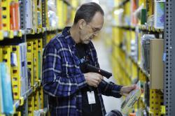 Amazon Prime warehouse in New York.
