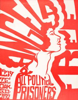 'Free Angela and All Political Prisoners' (1971), American poster, artist & publisher unidentified, coming to the GLBT History Museum.