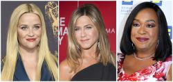 From left to right: Reese Witherspoon, Jennifer Aniston and Shonda Rhimes.