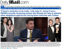 A screenshot of the front page of The Daily Mail's website.