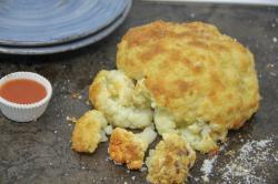 Cheesy pull-apart whole cauliflower.