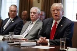 President Donald Trump speaks during a cabinet meeting at the White House, Wednesday, Jan. 10, 2018, in Washington