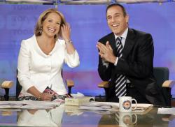 "Katie Couric and Matt Lauer, co-hosts of the NBC Today"" program, in 2006."