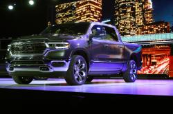The Ram 1500 is shown during the North American International Auto Show, Monday, Jan. 15, 2018, in Detroit