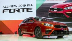 The 2019 Kia Forte sedan is presented at the North American International Auto Show, Monday, Jan. 15, 2018, in Detroit