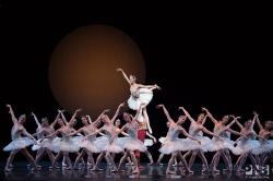 "A scene from Pacific Northwest Ballet's ""Swan Lake."""