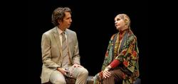 "James Liebman and Martha Hackett in ""Edward Albee's Occupant."""