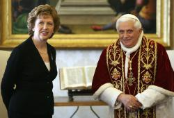 Pope Benedict XVI and Ireland President Mary McAleese