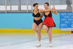 Same-sex pairs figure skating at Gay Games 9, Cleveland.