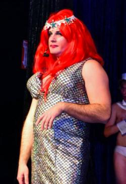"Blake Siskavich in ""The Menopausal Mermaid"" at Club Cafe."