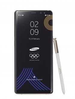 This image provided by Samsung shows a Galaxy Note 8 Olympic Games phone