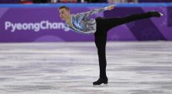 Adam Rippon of the United States performs in the men's single skating free skating in the Gangneung Ice Arena at the 2018 Winter Olympics in Gangneung, South Korea.