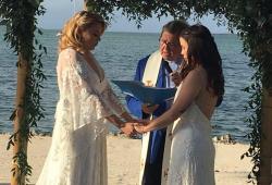 Jocelyn Morffi (l) marries her partner, Natasha Hass (r.), in the Florida Keys on Feb. 8, 2018.