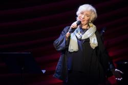 "Betty Buckley performs at ""Everybody, Rise! A Celebration of Elaine Stritch"" in New York."