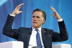 Former Republican presidential candidate Mitt Romney